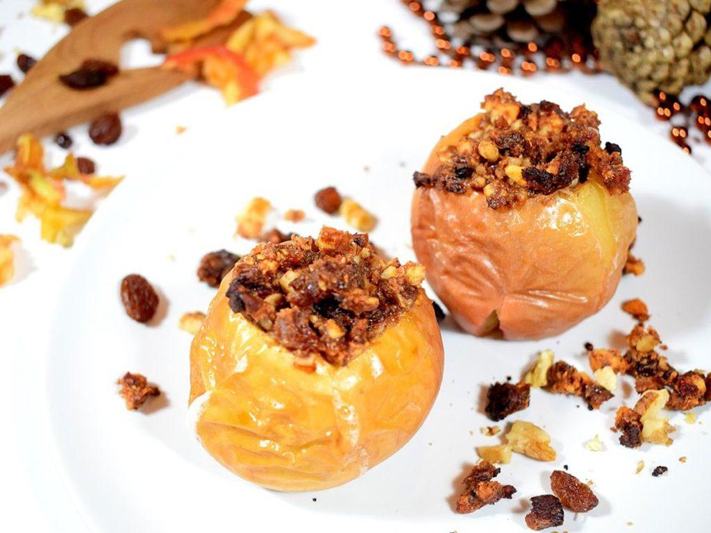 Gevulde appels   Warm dessert recept   Healthy Wanderlust