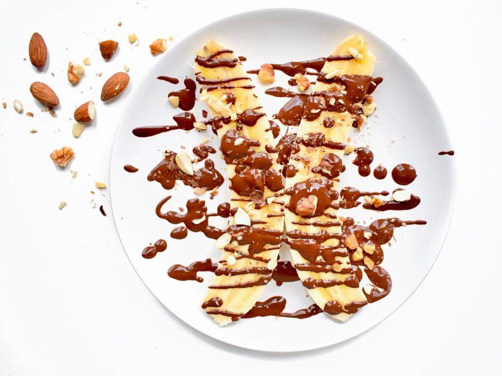 Bananensplit overnight oats | Ontbijt recept | Healthy Wanderlust