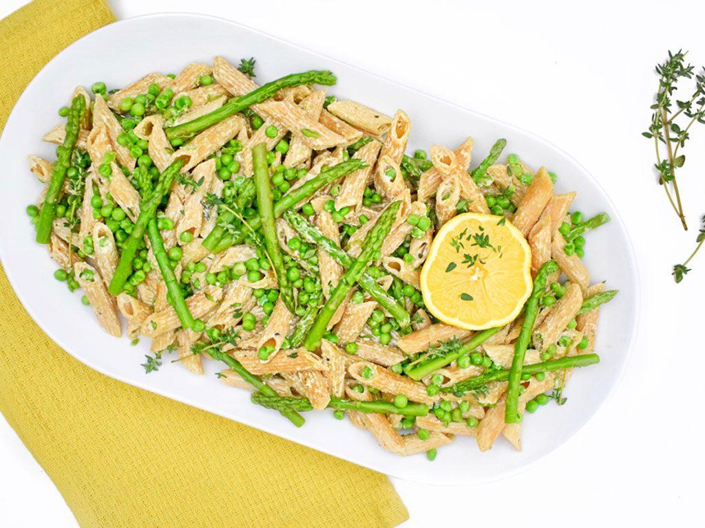 Groene pasta met citroen | Makkelijke maaltijd | Healthy Wanderlust