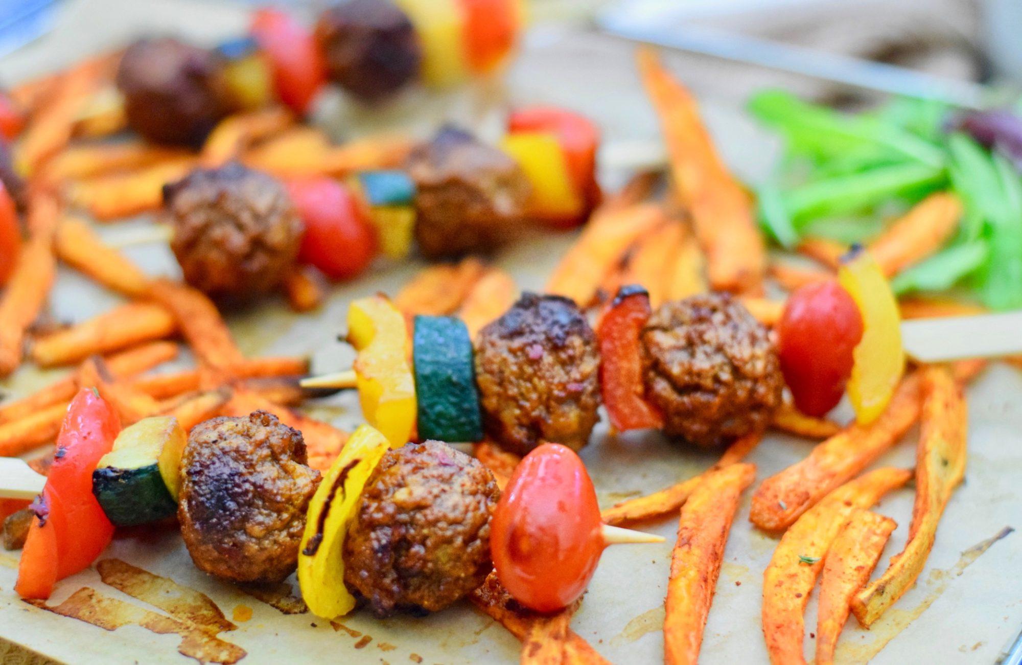 Vegetarische BBQ spiesjes | Barbecue recept | Healthy Wanderlust