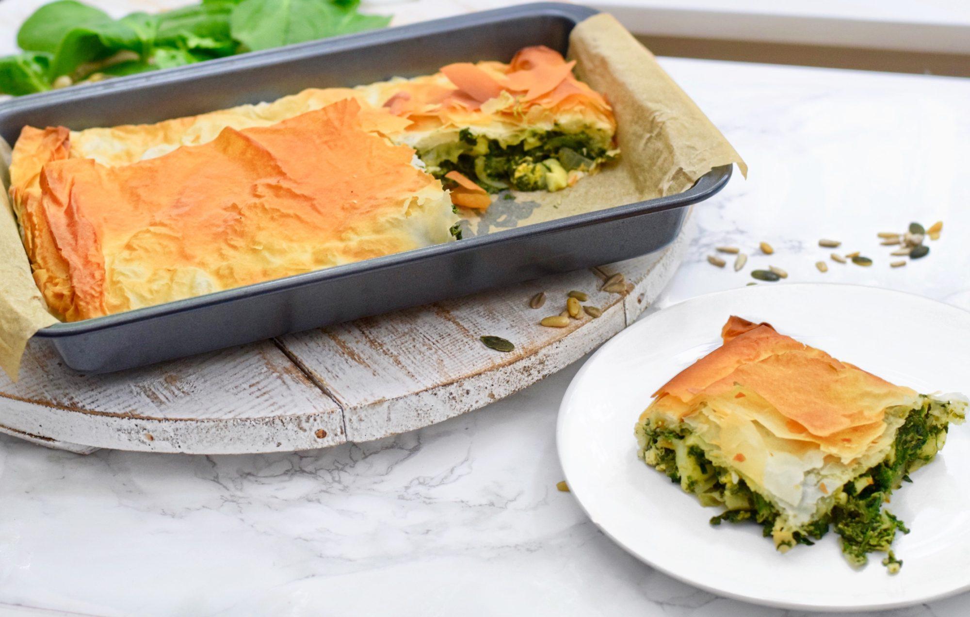 Hartige spinazie taart | Vegetarisch recept