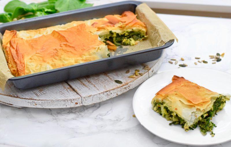 Hartige spinazie taart | Makkelijk recept | Healthy Wanderlust