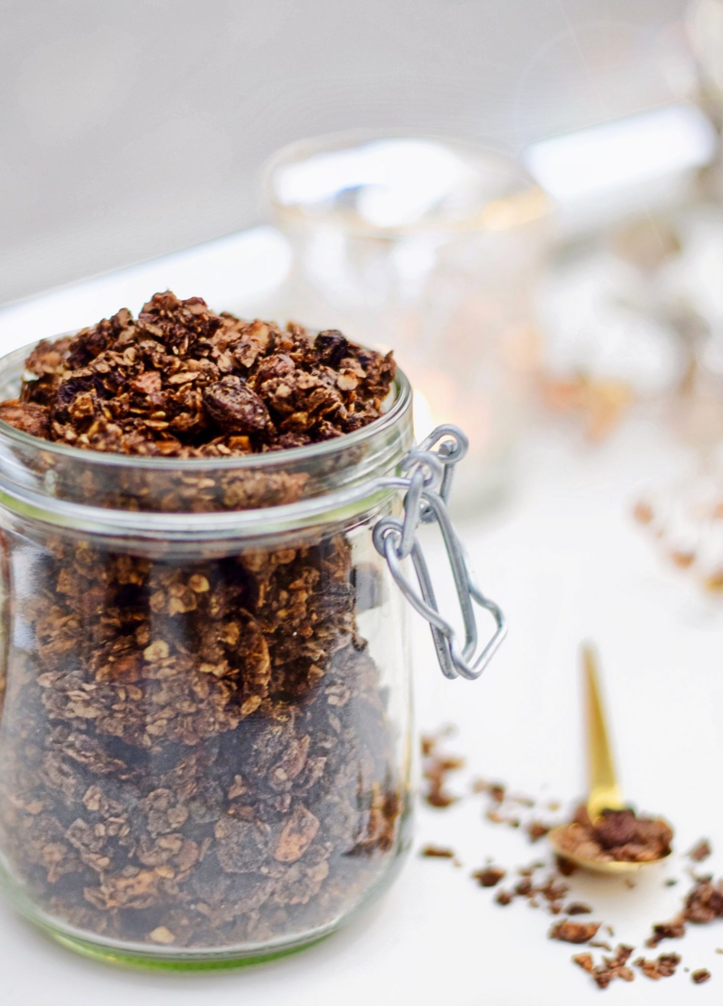 Chocolade granola recept