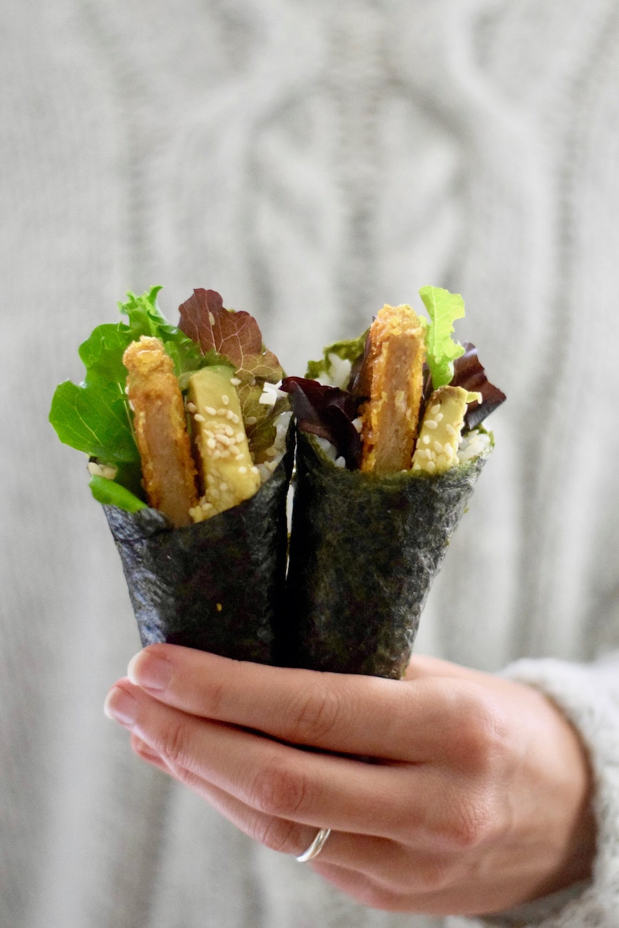 Vegetarische handroll | Sushi recept