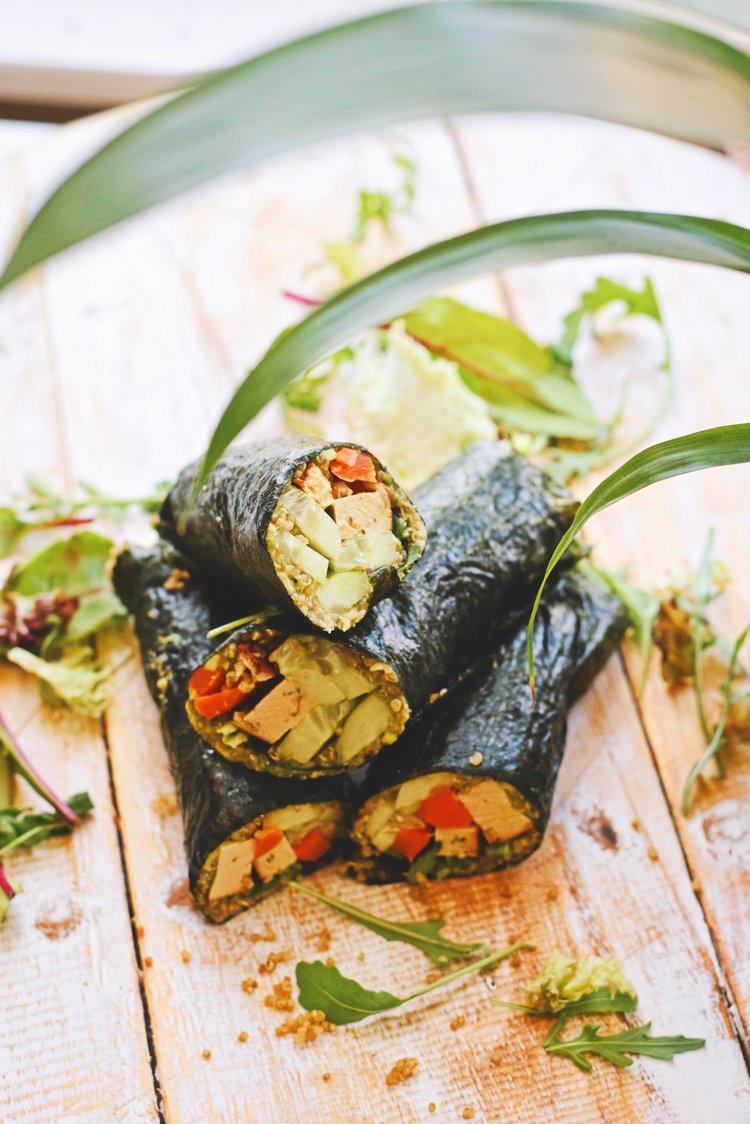 Vegetarisch recept | Quinoa sushi rolls