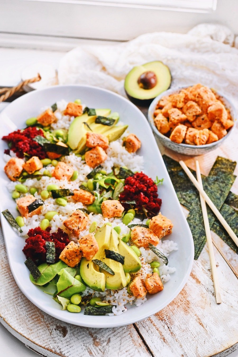 Sushi salade recept | Healthy Wanderlust