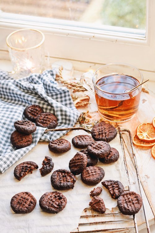 Gezonde brownie koekjes | Koekjes recept | Healthy Wanderlust