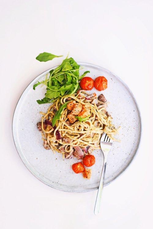 Fettucini pasta met truffel | Makkelijk recept