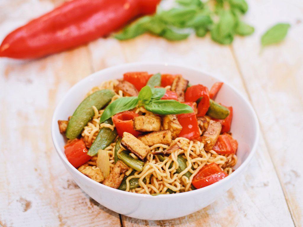 Tofu wok noodles | Vegetarisch recept