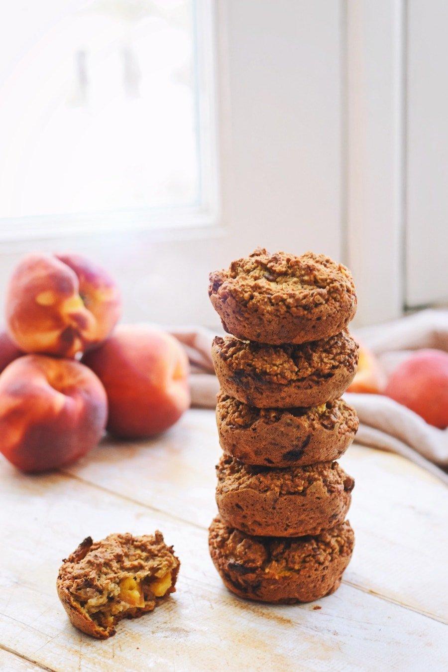 Perzik muffins   Gezonde muffins recept   Healthy Wanderlust